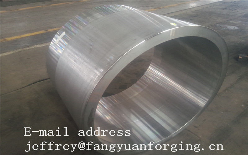 JIS EN ASME ASTM Hydraulic Cylinder Bushing Sleeve Forged C45 4130 4140 42CrMo4 4340 Rough Machined And UT
