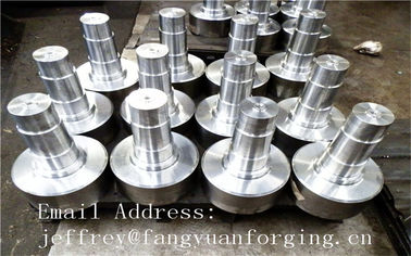 17CrNiMo6 31CrMOV9 Alloy Steel Forged Shaft  Heat Treatment And Machined