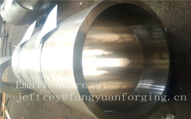 ประเทศจีน S S Forged Steel Products / Forged Ring Flange Cylinder With Machining โรงงาน